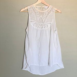 Aritzia Wilfred white swing tank top size small